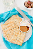 Toasts with fish pate Royalty Free Stock Photography