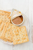 Toasts with fish pate Stock Image