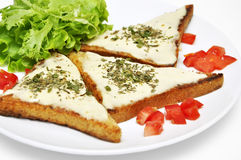 Toasts with goat cheese Stock Image