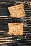 Toasts on a grill Royalty Free Stock Images