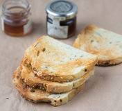 Toasts and honey Royalty Free Stock Image