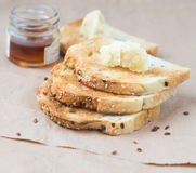 Toasts and honey Stock Images