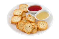 Toasts with honey and jam Royalty Free Stock Photo