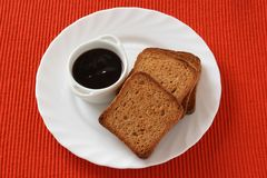 Toasts with jam Stock Photo