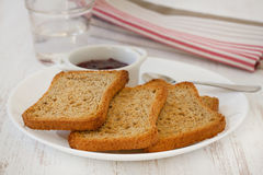 Toasts with jam Royalty Free Stock Images