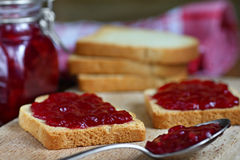 Toasts with jam Royalty Free Stock Photo