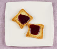 Toasts with jam Royalty Free Stock Photos