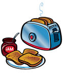 Toasts and Jam royalty free illustration