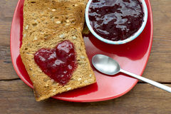 Toasts and jam Royalty Free Stock Image