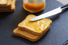 Toasts with jam Royalty Free Stock Photography