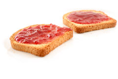 Toasts with Jelly Royalty Free Stock Images