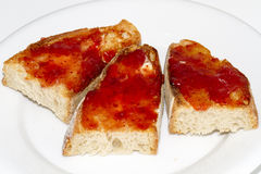 Toasts. Made from jam and butter Royalty Free Stock Photos