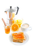 Toasts with orange marmalade, Royalty Free Stock Image