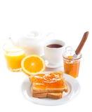 Toasts with orange marmalade Royalty Free Stock Photo