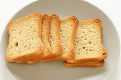 Toasts on a plate Stock Photography