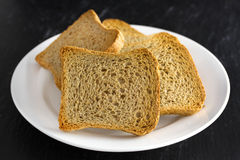 Toasts on plate Royalty Free Stock Photography