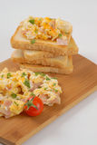 Toasts and scrambled eggs Stock Photo