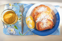 Toasts with sugar Stock Image