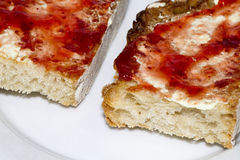 Toasts. Toast made from jam and butter Royalty Free Stock Photo