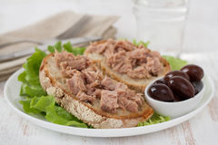 Toasts with tuna Stock Images
