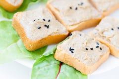 Toasts with tuna paste Stock Photo