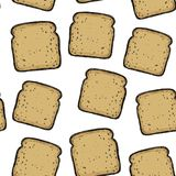 Toasts.Vector seamless pattern. Delicious background. Doodle style. Toasts.Vector seamless pattern Delicious background vector illustration