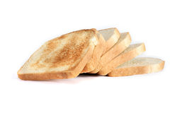 Toasts On White Stock Photography