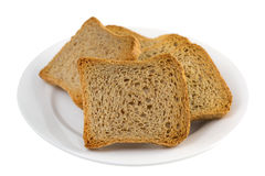 Toasts on white plate Royalty Free Stock Photo