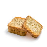 Toasts on white Royalty Free Stock Photos
