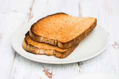 Toasts from Wholewheat Bread Royalty Free Stock Images