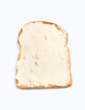 Toastverbreitung mit geschmolzenem Käse stockfotografie