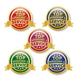 Tob Beratung Service 5 Golden Buttons Stock Photos