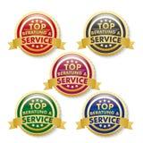 Tob Beratung Service 5 Golden Buttons Stock Photos