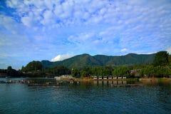 Toba湖在北部苏门答腊岛印度尼西亚 库存图片