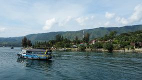 Toba Lake harbor, Medan, Indonesia. The Toba Lake harbor, Medan, Indonesia stock photography