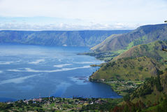 Toba Lake. From Tongging Village Stock Photography