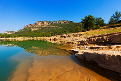 Toba reservoir in Serrania de Cuenca in summer Royalty Free Stock Images
