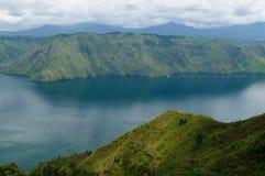 Toba sjö på Sumatra Arkivbilder