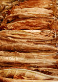Tobacco 09. Classical way of drying tobacco Royalty Free Stock Images