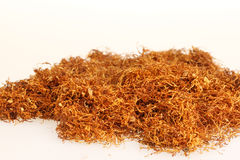 Tobacco. Pile of tobacco isolated on white Stock Images
