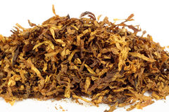 Tobacco. Cut and dried different sorts (kinds) tobacco leaves. Tobacco for smoking with pipe Royalty Free Stock Photo