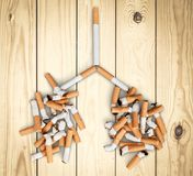 Tobacco addiction Stock Image
