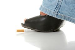 Tobacco addiction metaphor Stock Photo