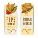 Tobacco Banners Set Royalty Free Stock Image