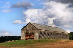 Tobacco Barn stock image