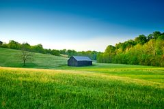 Tobacco Barn in a Field.  royalty free stock image