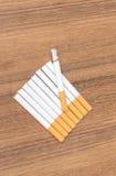 Tobacco burning cigarette detrimental Stock Image