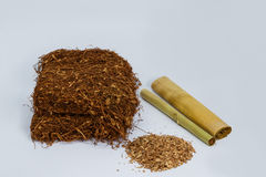 Tobacco with cheroot. And cigarette Royalty Free Stock Photo