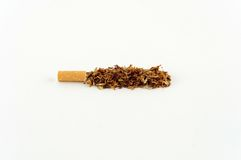 Tobacco of a cigarette Royalty Free Stock Images