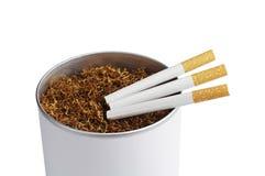 Tobacco and cigarette Stock Photos